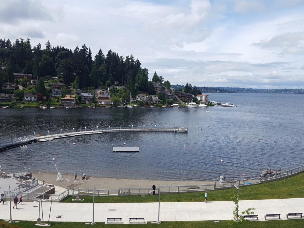 Meydenbauer Bay Park sand and swim beach in Bellevue, WA