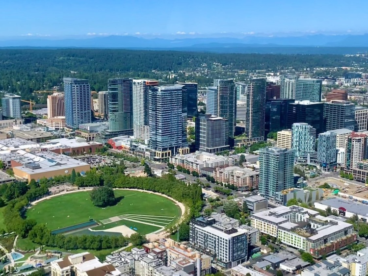 Aerial Photo of Downtown Bellevue, WA